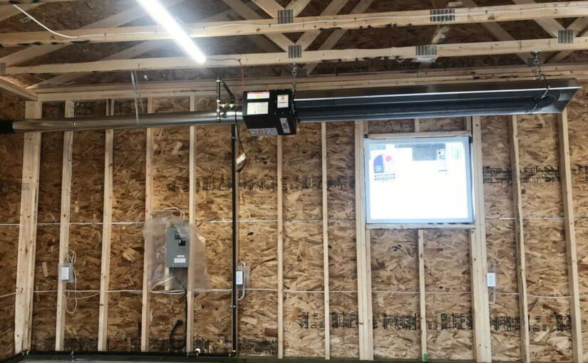 Radiant heater installation