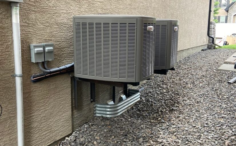 Lennox central air conditioner installed by Calgary Air
