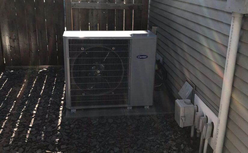 Carrier air conditioning installed by Calgary Air